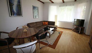 Wohnzimmer Ferienwohnung Andreas Schirbel