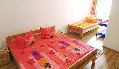 Schlafzimmer Doppelbett FEWO Schirbel