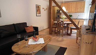 Wohnküche Ferienhaus Nexö