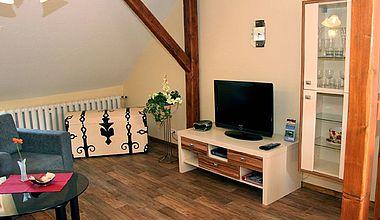 Wohnzimmer Ferienwohnung Scarlett Ilsenburg
