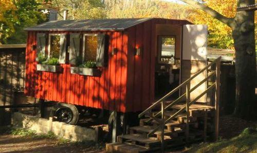 Raststätte Ilsestein Bauwagen Innenraum