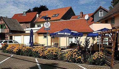 Terrasse des Altstadthotels in Ilsenburg