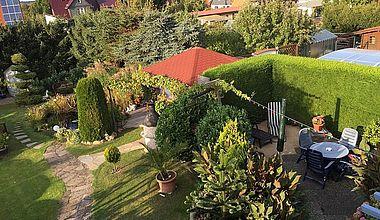 Gartenansicht Ferienhaus Schmidt Ilsenburg