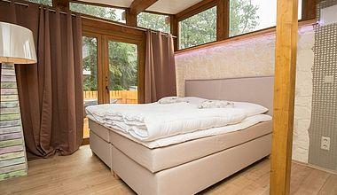 Schlafzimmer Bungalow am Schloß