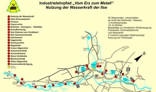 Industrielehrpfad Karte