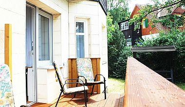 Ferienwohnung Schirbel Terrasse Ilsenburg