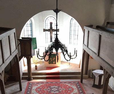 Innenansicht St. Lairentiuskirche