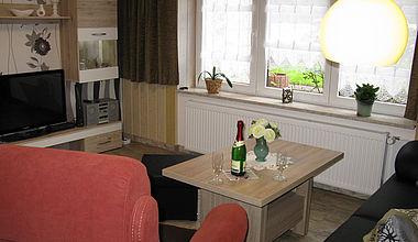 Wohnzimmer Ferienwohnung Martin