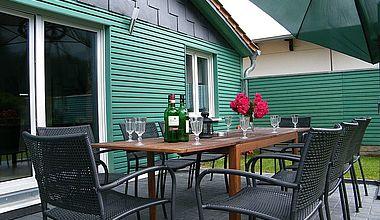 K&M Immobilien Ferienhaus Terrasse Ilsenburg