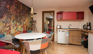 Wohnküche Bungalow am Schloß