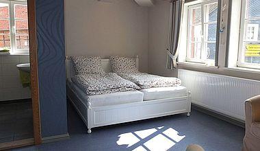 Schlafzimmer im Schwarzen Hirsch Ilsenburg