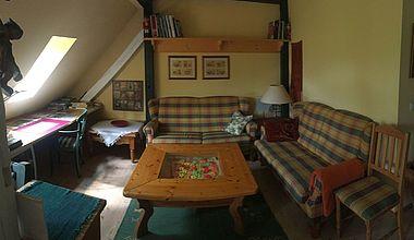 Wohnzimmer Ferienwohnung Rudolf
