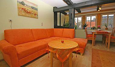 Wohnzimmer Ferienwohnung Enzenberg Ilsenburg