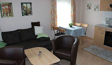 Wohnküche Ferienhaus Bollmann in Ilsenburg