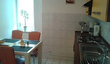 Badezimmer Ferienwohnung Stahl