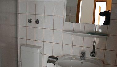 Bad, WC zum Zimmer im Kloster Ilsenburg