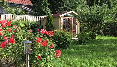Ferienhaus Rosengarten Garten