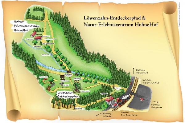 Karte Drei Annen Hohne